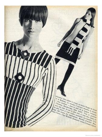 Tóc bob, họa tiết lập thể đơn giản điển hình của thập niên 60