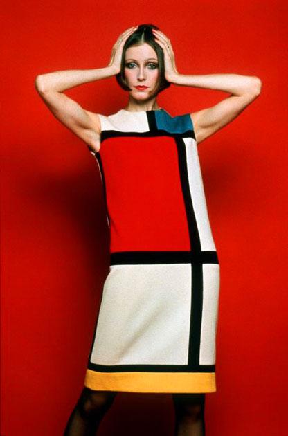 Mẫu thiết kế của Yves Saint Lauren lấy cảm hứng từ họa phẩm lập thể Mondrian